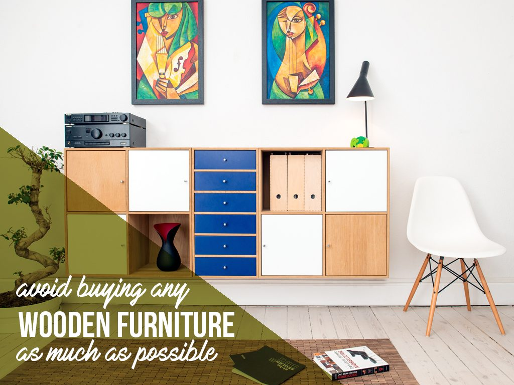 Avoid buying any wooden furniture