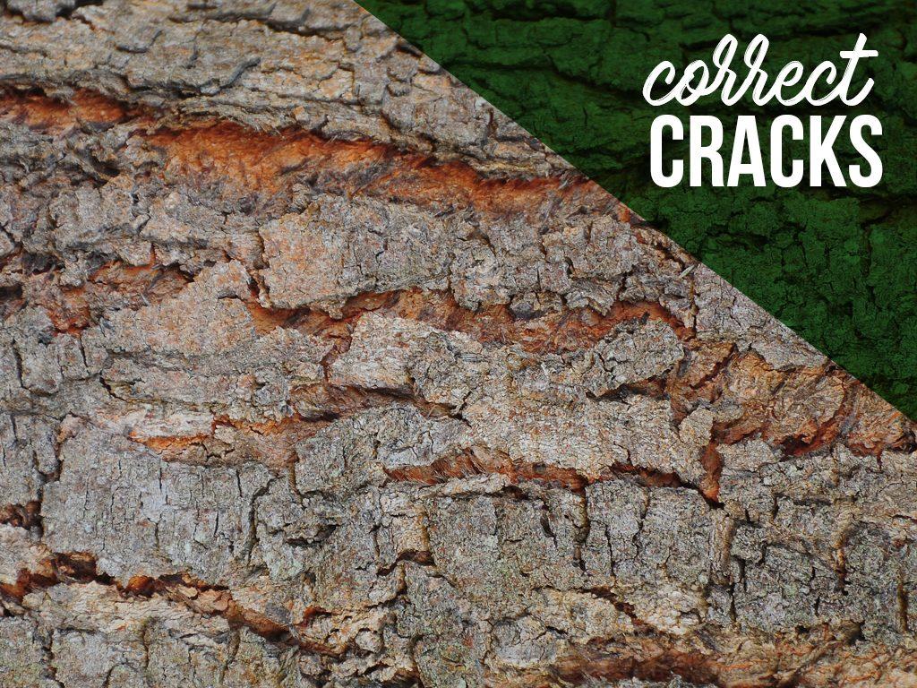 Correct cracks