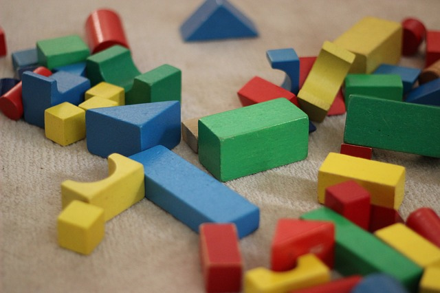cluttered building blocks