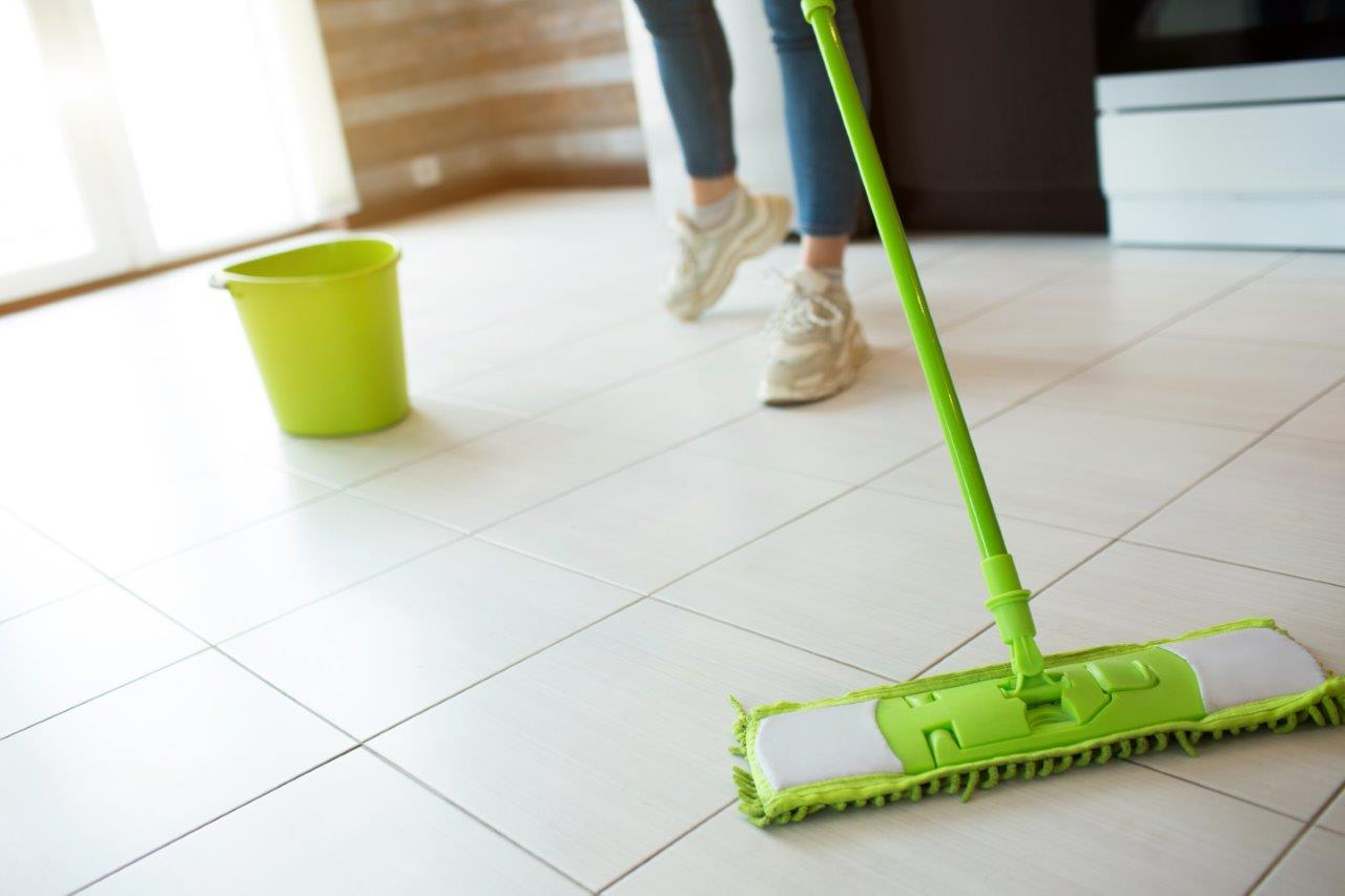 Mop kitchen floors