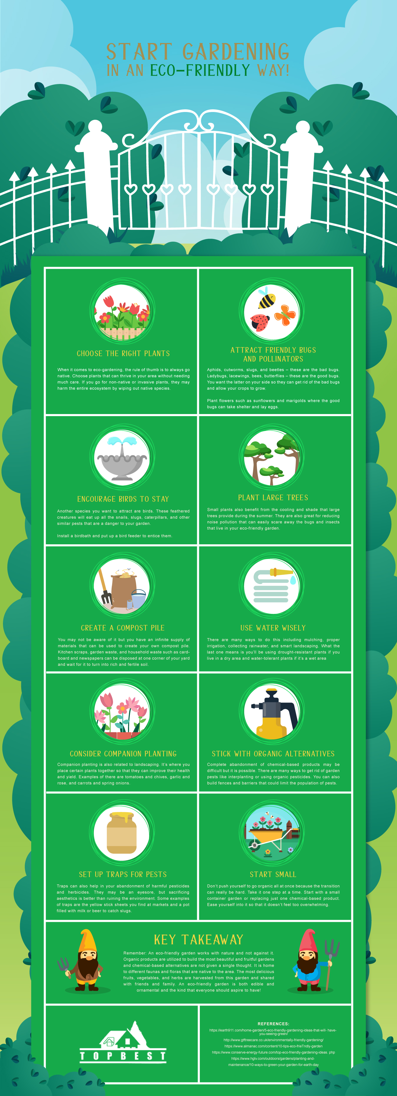 Start Gardening in an Eco-Friendly Way! infographic
